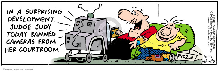 Comic Strip Bob Thaves Tom Thaves  Frank and Ernest 2008-10-11 surprise