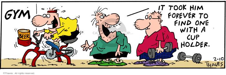 Comic Strip Bob Thaves Tom Thaves  Frank and Ernest 2001-02-10 endurance