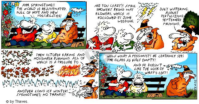 Comic Strip Bob Thaves Tom Thaves  Frank and Ernest 2001-04-22 optimism