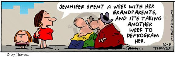 Comic Strip Bob Thaves Tom Thaves  Frank and Ernest 2001-10-05 grandma