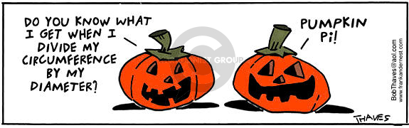 Comic Strip Bob Thaves Tom Thaves  Frank and Ernest 2001-10-31 pumpkin pie