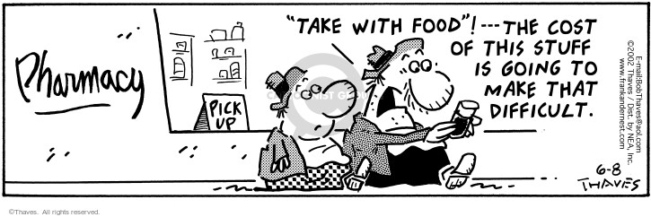 Comic Strip Bob Thaves Tom Thaves  Frank and Ernest 2002-06-08 finance
