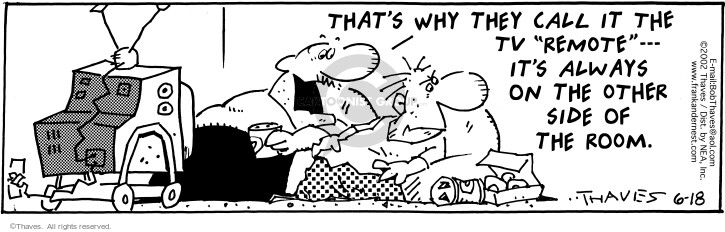 Comic Strip Bob Thaves Tom Thaves  Frank and Ernest 2002-06-18 appliance