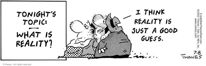 Cartoonist Bob Thaves Tom Thaves  Frank and Ernest 2002-07-08 good
