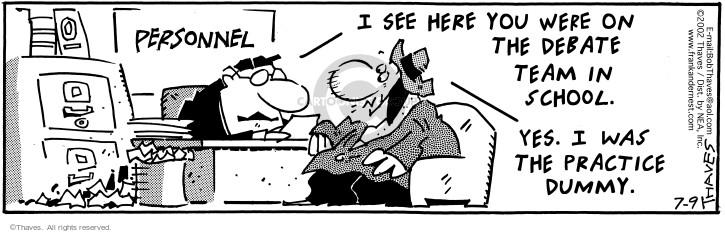 Comic Strip Bob Thaves Tom Thaves  Frank and Ernest 2002-07-09 argument