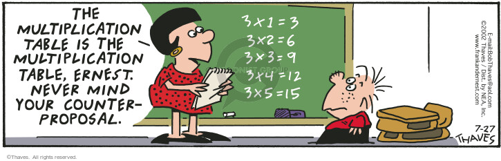 Comic Strip Bob Thaves Tom Thaves  Frank and Ernest 2002-07-27 blackboard