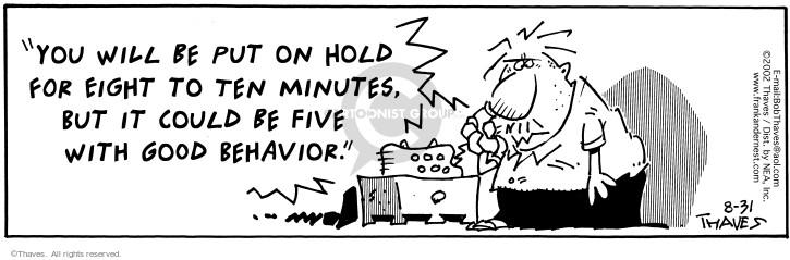 Comic Strip Bob Thaves Tom Thaves  Frank and Ernest 2002-08-31 reward