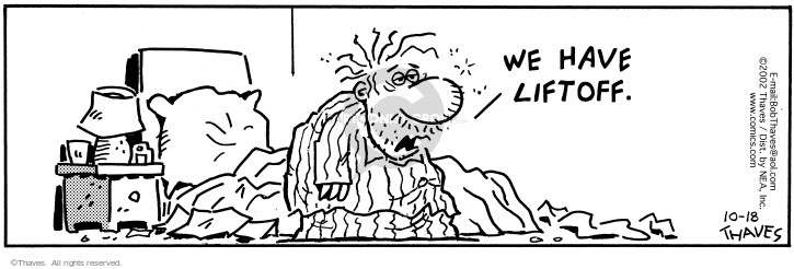 Comic Strip Bob Thaves Tom Thaves  Frank and Ernest 2002-10-18 rise
