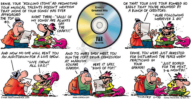 Comic Strip Bob Thaves Tom Thaves  Frank and Ernest 2002-11-10 IRS