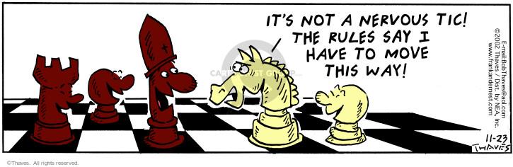 Cartoonist Bob Thaves Tom Thaves  Frank and Ernest 2002-11-23 nervous