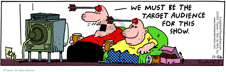 Comic Strip Bob Thaves Tom Thaves  Frank and Ernest 2002-11-26 match