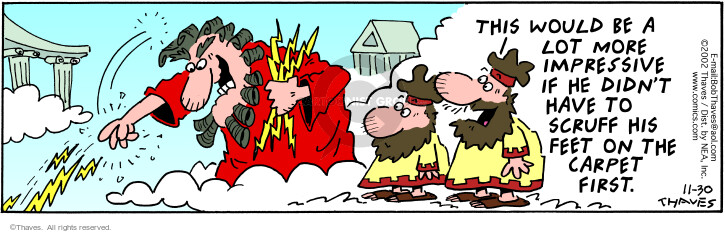 Comic Strip Bob Thaves Tom Thaves  Frank and Ernest 2002-11-30 strike