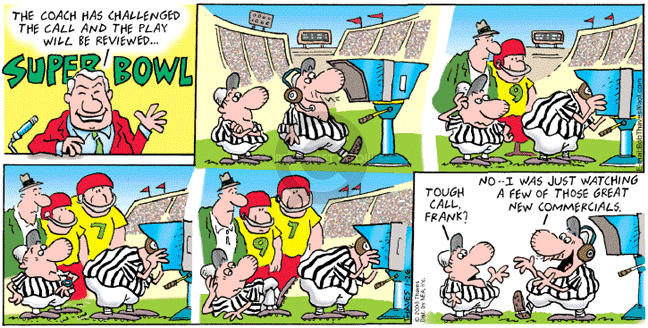 Comic Strip Bob Thaves Tom Thaves  Frank and Ernest 2003-01-26 referee