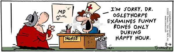 Comic Strip Bob Thaves Tom Thaves  Frank and Ernest 2003-02-06 nurse