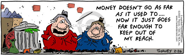 Comic Strip Bob Thaves Tom Thaves  Frank and Ernest 2003-02-26 financial resources