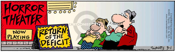 Comic Strip Bob Thaves Tom Thaves  Frank and Ernest 2003-03-01 deficit