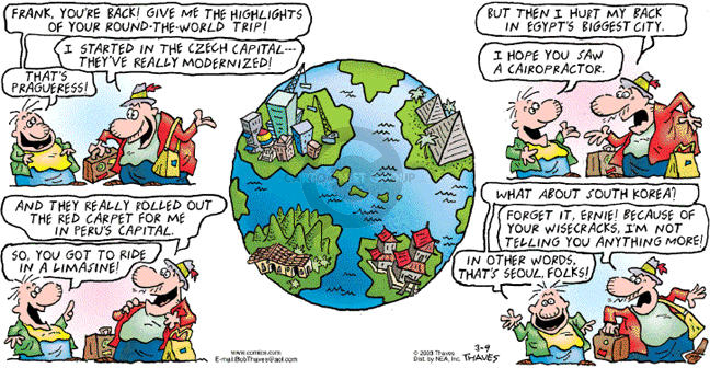 Cartoonist Bob Thaves Tom Thaves  Frank and Ernest 2003-03-09 hurt
