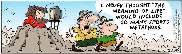 Comic Strip Bob Thaves Tom Thaves  Frank and Ernest 2003-03-17 meaning