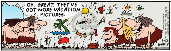Comic Strip Bob Thaves Tom Thaves  Frank and Ernest 2003-03-18 traveler