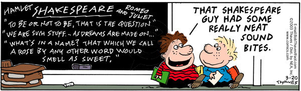 Comic Strip Bob Thaves Tom Thaves  Frank and Ernest 2003-03-20 blackboard