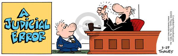 Cartoonist Bob Thaves Tom Thaves  Frank and Ernest 2003-03-29 hurt