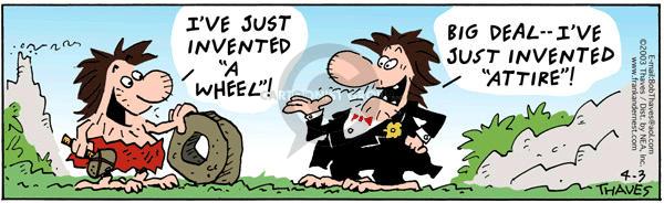 Cartoonist Bob Thaves Tom Thaves  Frank and Ernest 2003-04-03 man