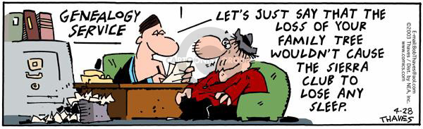 Comic Strip Bob Thaves Tom Thaves  Frank and Ernest 2003-04-28 regret