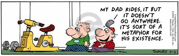 Comic Strip Bob Thaves Tom Thaves  Frank and Ernest 2003-05-02 progress