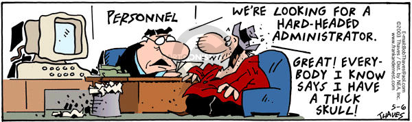 Comic Strip Bob Thaves Tom Thaves  Frank and Ernest 2003-05-06 hard