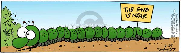 Cartoonist Bob Thaves Tom Thaves  Frank and Ernest 2003-05-29 centipede