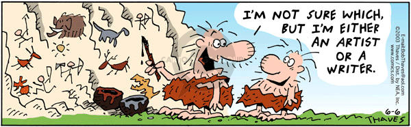 Comic Strip Bob Thaves Tom Thaves  Frank and Ernest 2003-06-06 caveman