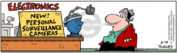 Comic Strip Bob Thaves Tom Thaves  Frank and Ernest 2003-06-14 invasion