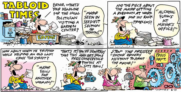 Comic Strip Bob Thaves Tom Thaves  Frank and Ernest 2003-06-15 distortion