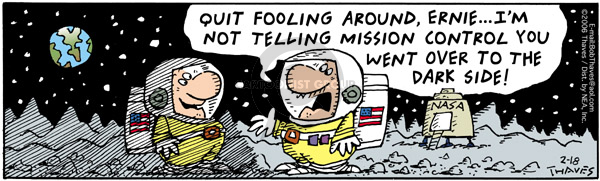 Comic Strip Bob Thaves Tom Thaves  Frank and Ernest 2006-02-18 rocket