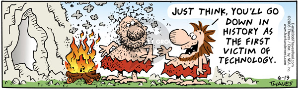 Cartoonist Bob Thaves Tom Thaves  Frank and Ernest 2006-06-13 positive