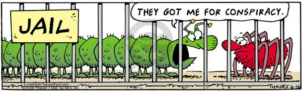 Cartoonist Bob Thaves Tom Thaves  Frank and Ernest 2006-06-16 centipede