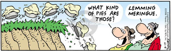Comic Strip Bob Thaves Tom Thaves  Frank and Ernest 2006-06-19 pie