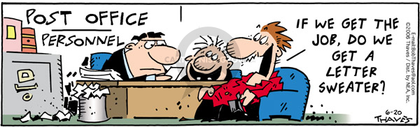 Comic Strip Bob Thaves Tom Thaves  Frank and Ernest 2006-06-20 work clothes