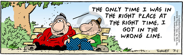 Comic Strip Bob Thaves Tom Thaves  Frank and Ernest 2006-07-01 luck