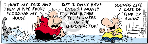 Comic Strip Bob Thaves Tom Thaves  Frank and Ernest 2006-07-06 choose