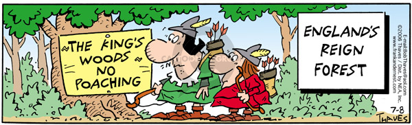 Comic Strip Bob Thaves Tom Thaves  Frank and Ernest 2006-07-08 king