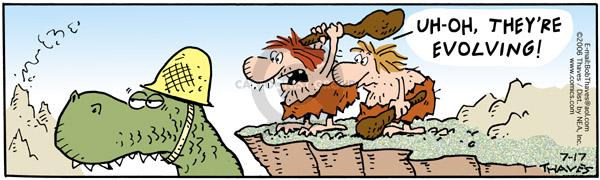 Comic Strip Bob Thaves Tom Thaves  Frank and Ernest 2006-07-17 progress