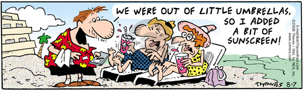 Comic Strip Bob Thaves Tom Thaves  Frank and Ernest 2006-08-07 vacation