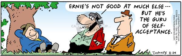 Cartoonist Bob Thaves Tom Thaves  Frank and Ernest 2006-08-24 good