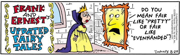 Comic Strip Bob Thaves Tom Thaves  Frank and Ernest 2006-08-29 self-esteem