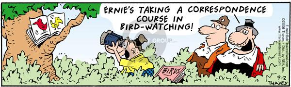 Cartoonist Bob Thaves Tom Thaves  Frank and Ernest 2006-09-02 correspondence