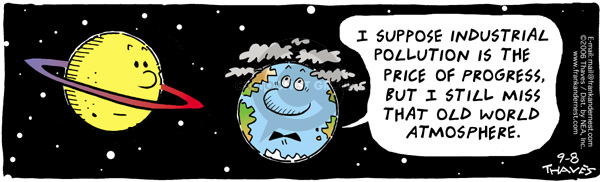 Comic Strip Bob Thaves Tom Thaves  Frank and Ernest 2006-09-08 global warming