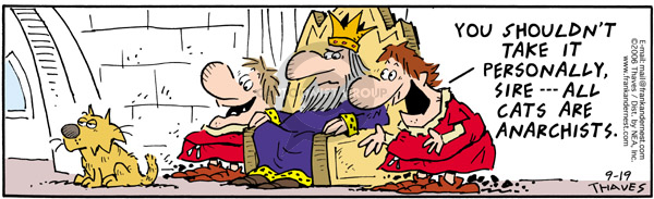 Comic Strip Bob Thaves Tom Thaves  Frank and Ernest 2006-09-19 monarchy