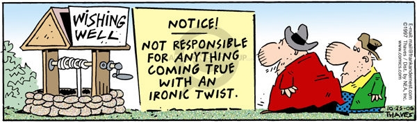 Comic Strip Bob Thaves Tom Thaves  Frank and Ernest 2006-10-25 disclaimer