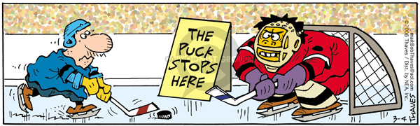 Comic Strip Bob Thaves Tom Thaves  Frank and Ernest 2006-03-04 hockey